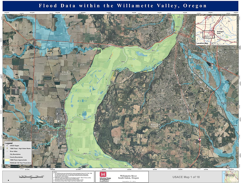 FileWillamette River Flooding Mapjpg Wikimedia Commons - Us corps of engineers maps