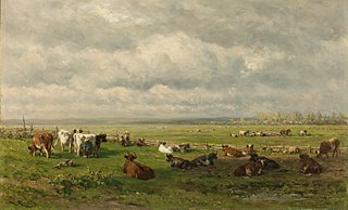 Meadow Landscape with Cattle