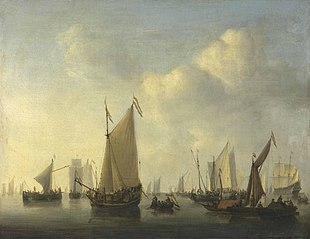 Dutch Fleet in a Calm