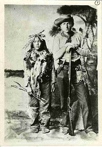 Big Bear - Survivor of the Frog Lake Massacre William Bleasdell Cameron with Horse Child, 12-year-old son of Big Bear. They were photographed together in Regina in 1885 during the trial of Big Bear. Cameron testified in Big Bear's defense.