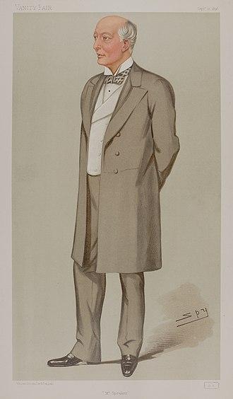 "William Gully, 1st Viscount Selby - ""Mr Speaker"" as caricatured by Spy (Leslie Ward) in Vanity Fair, September 1896"