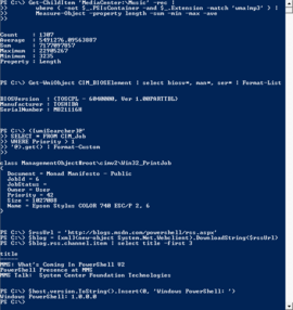 Screenshot di Windows PowerShell