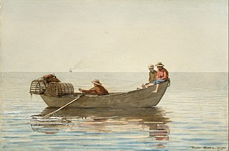 The Fog Warning - Image: Winslow Homer Three Boys in a Dory with Lobster Pots Google Art Project