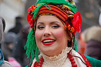 Woman in Traditional Ukrainian Clothes - Maslenitsa - Kiev, Ukraine - 16 March 2013.jpg