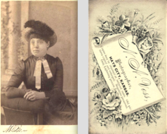Woman in hat by Voss of Hays City Kansas.png
