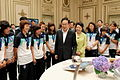 Women's U-20 national football team visiting Cheong Wa Dae.jpg