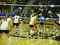 Women's volleyball, SJSU at Cal 2009-09-12 4.JPG