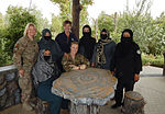 Women from 203rd Zone Afghan Border Police and TAAC-S attend shura at Kandahar Airfield, Afghanistan 150809-A-ZZ999-039.jpg