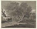 Wooded Landscape with Cows beside a Pool, Figures and Cottage MET DP819246.jpg
