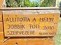 Wooden plaque by Jobbik (2010), 2020 Fót.jpg