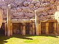 Xaghra Ggantija-Tempel Innen Altar 3.JPG