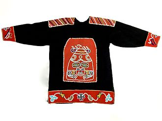 Mount Saint Elias - Tlingit Ceremonial Tunic given to Maynard Miller and members of the Harvard Mountaineering Club Mt. St. Elias expedition, 1946.