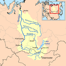 The Yenisei River Basin, Which Includes Lake Baikal