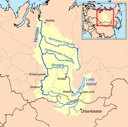 The yenisei basin including lake baikal