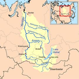 Rieka na mape