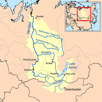 Kurz kamenité Tungusky (Podkamennaja Tunguska) v povodí Jeniseja