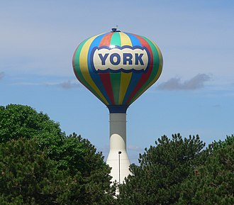 York, Nebraska - York water tower (2013)