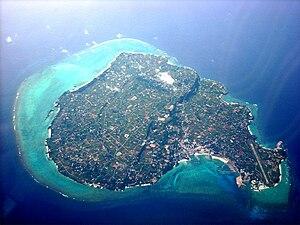 Yoronjima - Aerial view of Yoronjima in 2008