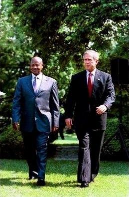Yoweri Kaguta Museveni with George Bush June 10, 2003