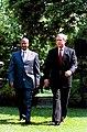 Yoweri Kaguta Museveni with George Bush June 10, 2003.jpg