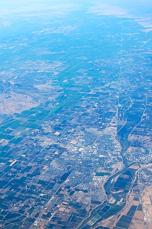 Yuba City, California - Yuba City, from the air