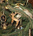 Yule Goat on the christmas tree.JPG