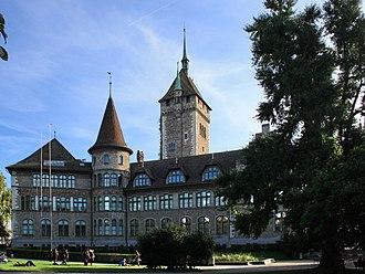 Swiss National Museum - The Museum as seen from the Platzspitz park
