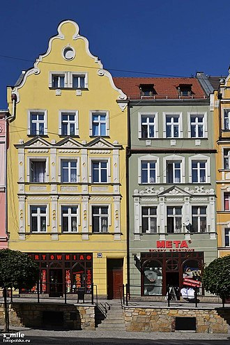 Złotoryja - Tenements at the marketplace