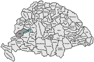 Zala County (former) former administrative county of the Kingdom of Hungary