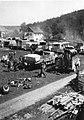 Zaplenjena nemška motorna vozila v Borovljah.jpg