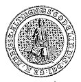 Zegel van Godelindis, 11de abdis van stift Elten.jpg