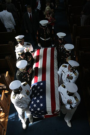 Pallbearer - Pallbearers carry the casket of Major Douglas A. Zembiec, USMC (1973–2007).