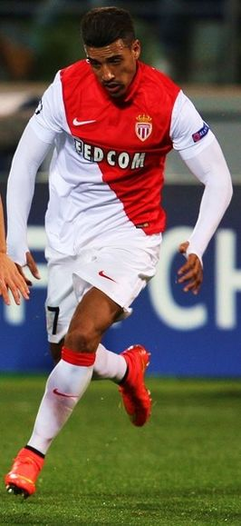 Nabil Dirar in het shirt van AS Monaco.