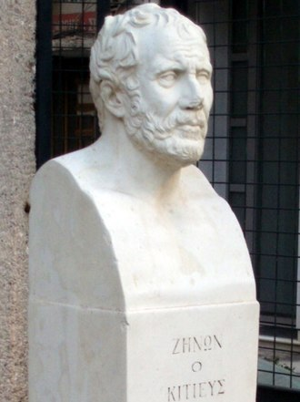 Zeno of Citium - Modern bust of Zeno in Athens