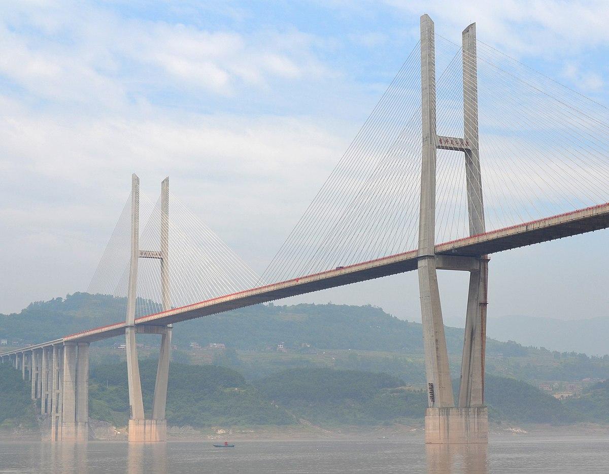 Cable Stayed Bridge >> Zhongzhou Yangtze River Bridge - Wikipedia