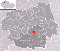 Location of Židovice