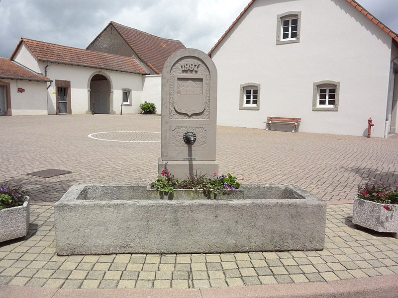 Zilling (Moselle) fontaine