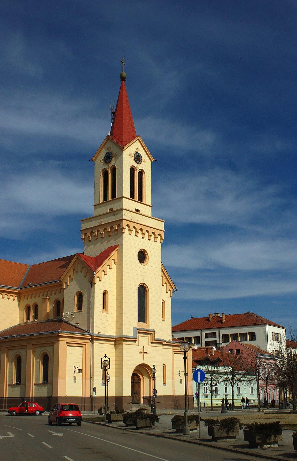 Zrenjanin, Trg Republike, kostel