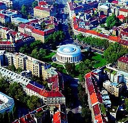 Skyline of Square of the Victims of FascismTrg žrtava fašizma