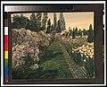 """""""Beacon Hill House,"""" Arthur Curtiss James house, Newport, Rhode Island. Blue Garden flower border LCCN00651342.jpg"""
