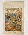 """Rustam Battles Sava"", Folio from a Shahnama (Book of Kings) MET DP164677.jpg"