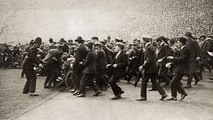 1923 FA Cup Final - Fans flood the pitch