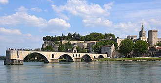 Pont Saint-Bénézet - The surviving four arches of the Pont St-Bénézet