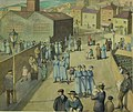 'Leaving the Munition Works' by Winifred Knights.jpg