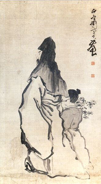 Tao Yuanming - Image: 'Tao Yuanming', ink on paper scroll by Min Zhen, 18th century china
