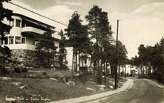 Södra Ängby - Old view of Ängbyhöjden, Södra Ängby.