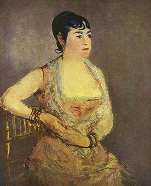 Galerie Neue Meister - Image: Édouard Manet La dame en rose