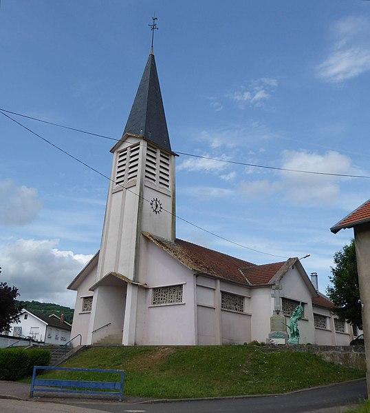 Église de Moivrons en Meurthe-et-Moselle (France).