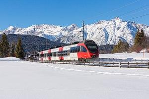 Bombardier Talent - A Talent EMU approaching Seefeld in Tirol.