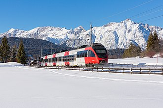 Bombardier Talent - A Talent EMU approaching Seefeld in Tirol.